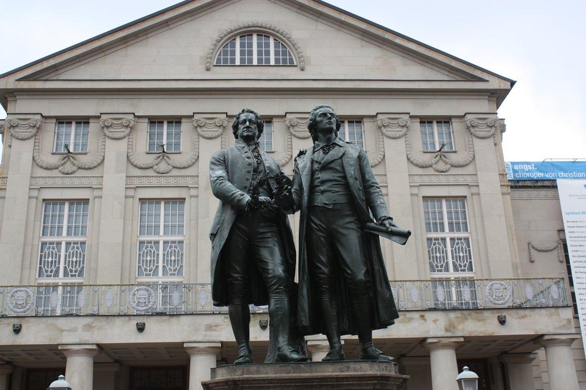 Goethe és Schiller / Weimar